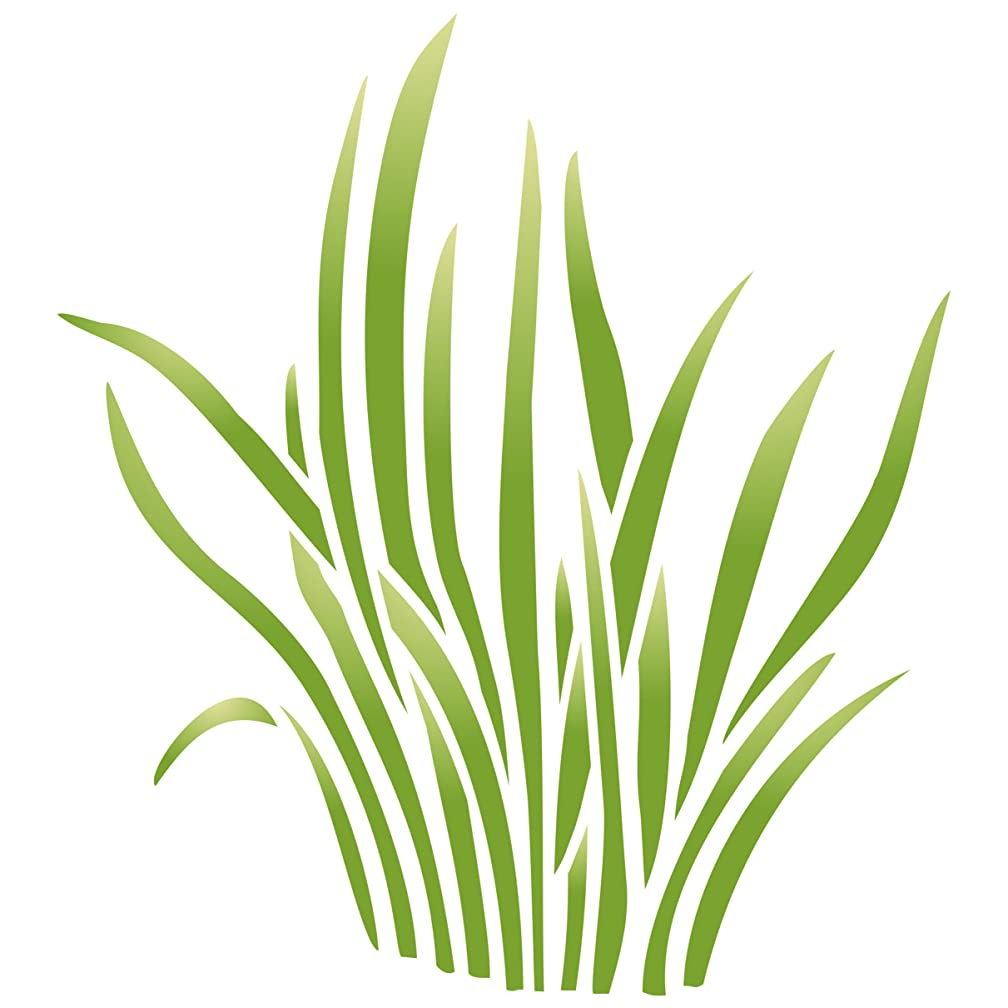 """Grass Stencil - (size 6.5""""w x 7.5""""h) Reusable Wall Stencils for Painting - Best Quality Nursery Stencils for Baby Room - Use on Walls, Floors, Fabrics, Glass, Wood, Terracotta, and More……"""