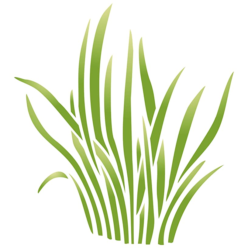 "Grass Stencil - (size 6.5""w x 7.5""h) Reusable Wall Stencils for Painting - Best Quality Nursery Stencils for Baby Room - Use on Walls, Floors, Fabrics, Glass, Wood, Terracotta, and More……"