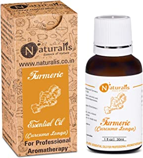 Naturalis Essence of Nature Turmeric Essential Oil 100% Undiluted Pure and Natural Therapeutic grade for Skin Cleansing an...