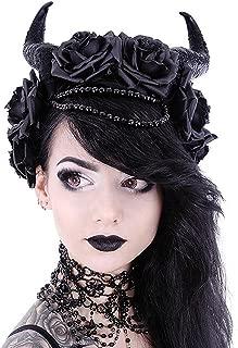 Restyle - EVIL QUEEN - Gothic Headpiece, Black Headband, Satan Horns