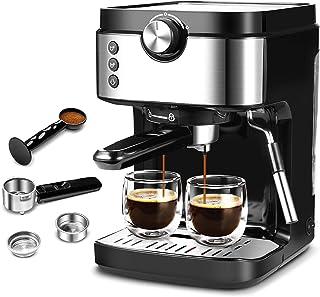 قهوه ساز اسپرسو 20 بار قهوه ساز با کف شیری ، 1300W عملکرد بالا بدون نشت 900 میلی لیتر قهوه ساز مخزن آب قابل جابجایی برای اسپرسو ، کاپوچینو ، لاته ، ماشیاتو ، برای خانه باریستا