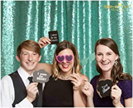 Backdrop Photography Best Choice-5FTx6FT-NEW Sequin Photo Backdrop, DIY Photobooth, Head Table Backdrop, Photo Booth Backdrop, Ceremony Backdrop, Ready to Ship!! (Mint Green)