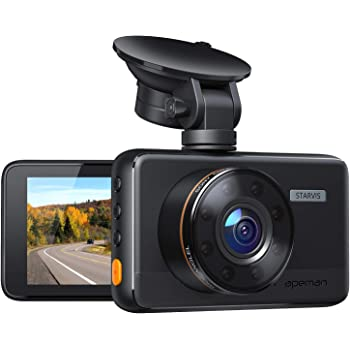 """APEMAN Dash Cam 1080P Car Camera with 8 IR Light, 3"""" IPS Screen, 170° Wide Angle, G-Sensor, WDR, Loop Recording, Motion Detection, Super Night Vision (New Version)"""