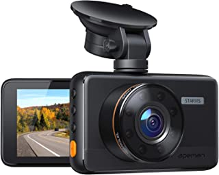 APEMAN Dash Cam, 8 IR Lights, 1080P Superior Night Vision Dash Camera for Cars, Support GPS, 3'' IPS Screen, User-Friendly Interface, Loop Recording, G-Sensor, 170°Wide Angle, Parking Monitor, WDR
