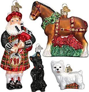 Old World Christmas Limited Edition Highland Christmas Ornament Collection Ornament Box Set
