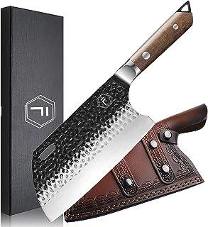 Couteau de Chef FANTECK Couperet de Cuisine Chinoise, Couteau de Boucher, Couteaux de Cuisine, Couteau de Chef Full Tang, ...