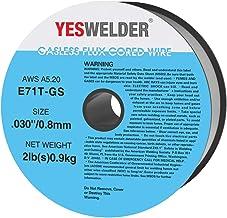 YESWELDER Flux Core Gasless Mig Wire, Mild Steel E71TGS.030-Diameter, 2-Pound Spool