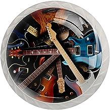 Lade knoppen ronde kristallen glazen kast handgrepen Pull 4 Pcs,Vintage r elektrische gitaren