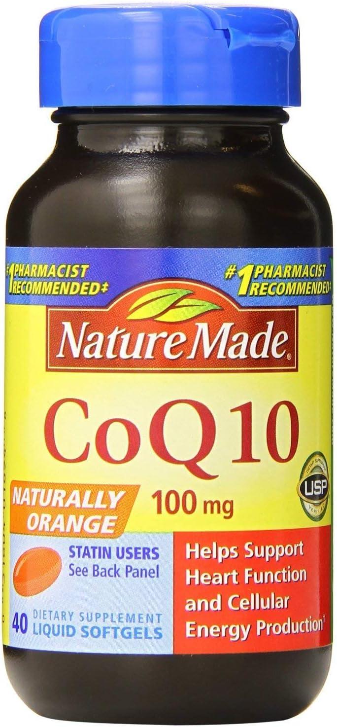 2 Pack -Nature Made Boston Mall Naturally Orange CoQ10 Liquid Miami Mall Softg Mg 100