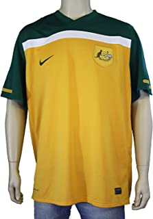 Nike Men's Australia Home Jersey 10/11-GOLD