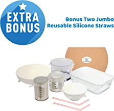 Silicone Stretch Lids - Eco Friendly - 6 Pack Of Assorted Sizes - BPA Free - Reusable & Durable - Dishwasher & Freezer Saf...