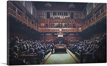 ARTCANVAS Monkey Parliament Canvas Art Print by Banksy - 40