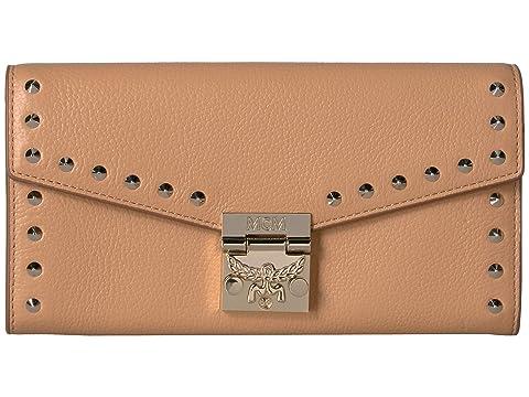 MCM Patricia Studded Outline Park Avenue Flap Wallet/Two-Fold Large