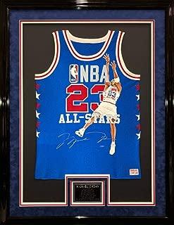 Autographed Michael Jordan Jersey - & Framed Painted All Star - Upper Deck Certified - Autographed NBA Jerseys