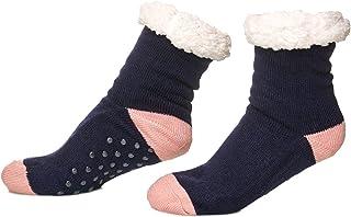 Calcetines térmicos Mujer de peluche suela antideslizante