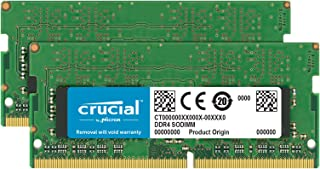 Crucial 16GB Single DDR4 2400 MT/s (PC4-19200) DR x8 SODIMM 260-Pin Memory - CT16G4SFD824A 32GB Kit (16GBx2) Dual Rank CT2...