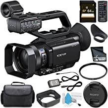 Sony PXW-X70 Professional XDCAM Compact Camcorder62mm UV Filter + 64GB SDXC Card + Carrying Case + Fibercloth + Deluxe Cleaning Kit Bundle