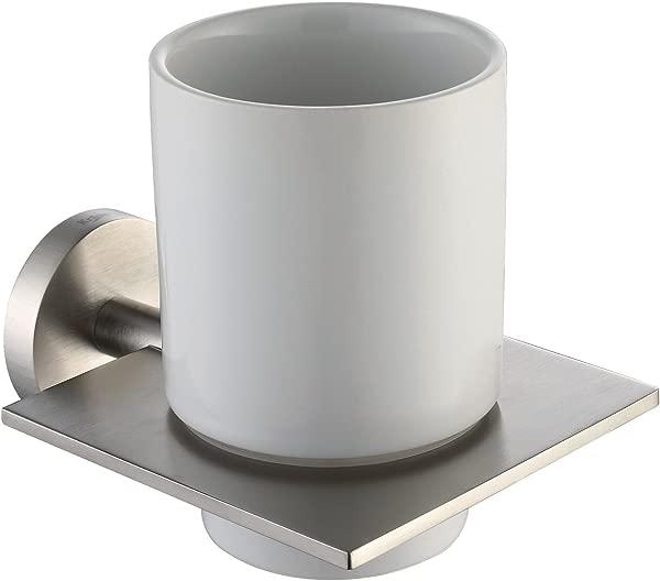 Kraus KEA 12204BN Imperium Bathroom Accessories Wall Mounted Ceramic Tumbler Holder Brushed Nickel