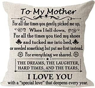 Blessing to My Mom We Share Dreams Laughter Hard Time Tear I Love You Cotton Linen Square Throw Waist Pillow Case Decorati...