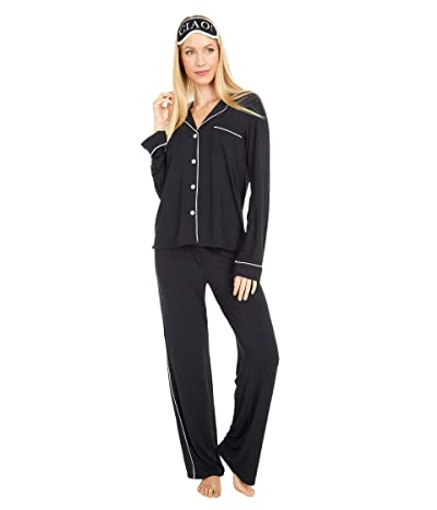 P.J. Salvage Modal Basics PJ Set (Black) Women