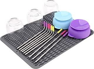 Non-Slip Silicone Dish Drying Mat, Dishwasher-Safe and Heat-Resistant Dish Tray