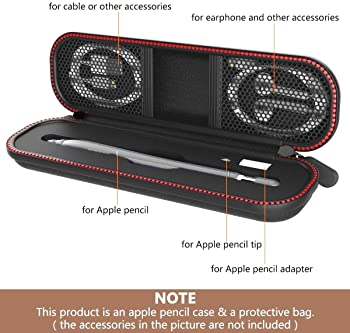 MORETEK for Apple Pencil Case and Box, Sleeve Cases with Hard Protective Cases Carrying Pouch Cover Cap Bag for Apple...