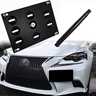 Xotic Tech Bumper Tow Hook License Plate Mount Bracket for Lexus is-F is GS LS CT RX RC, Black