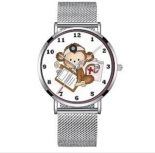 Ultra Thin Minimalist Waterproof Watch for Nurse Monkey May 28th Wrist Watch Wristwatch with Date Mesh Band