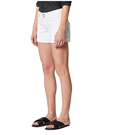 Hudson Jeans Croxley Cuffed Shorts in White (White) Women