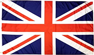 3x5 British Flag with Two Brass Grommets 100% Polyester , UK Flag , United Kingdom Flag , Union Jack Flags , English Flag England Flag Union Flag 3x5 English Flag United Kingdom Flag Britain Flag 3x5