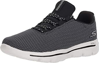 Skechers Performance Women's GO Walk Evolution Ultra-15727 Sneaker,black/white,10 M US