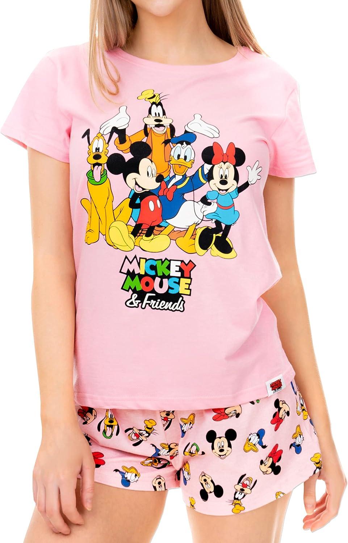 Disney Pijama para Mujer Mickey Mouse Minnie Mouse yy Amigos