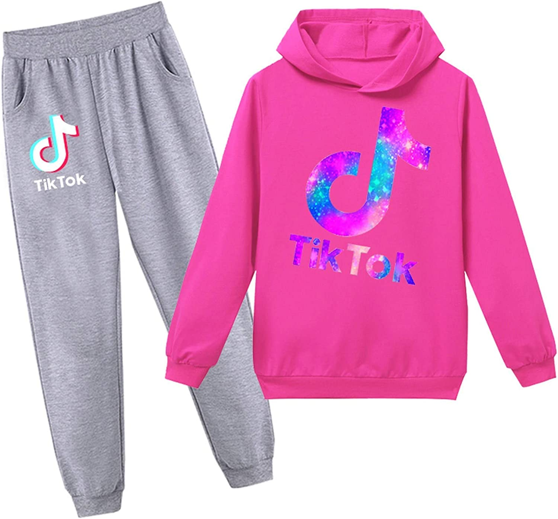 Tik Tok Kapuzenpullover f/ür M/ädchen Kleidung Tik Tok Merch Jungen Trainingsanzug Mode Tik Tok Sweatpants Beste Kinder Geschenke