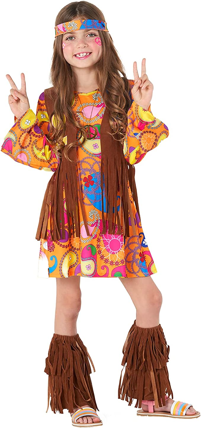 60s 70s Kids Costumes & Clothing Girls & Boys Morph Costumes Kids Hippie Dress 60s 70s Costume For Girls Halloween Costume Available In Sizes S M L XL  AT vintagedancer.com