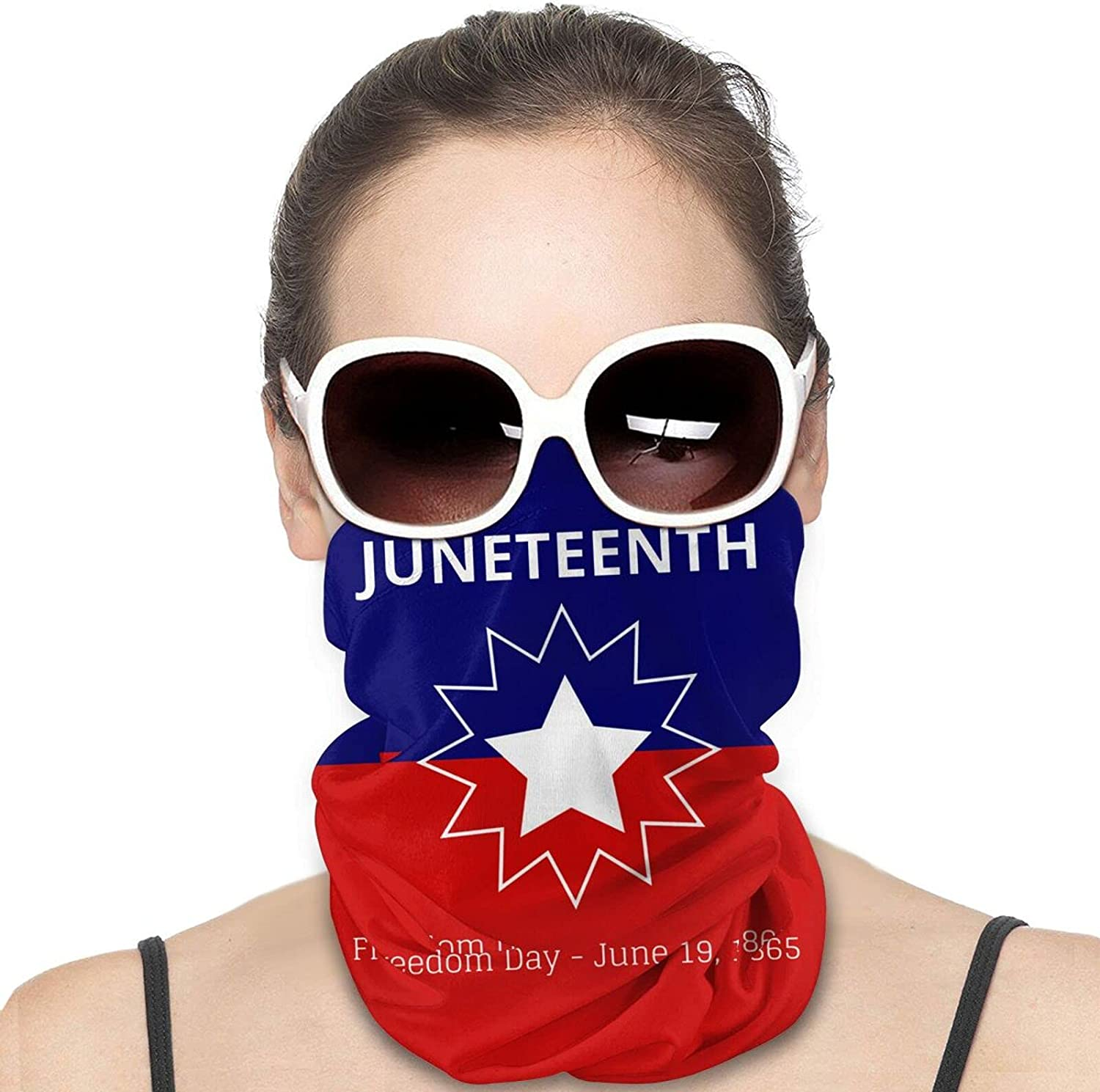 Happy Juneteenth Day. US Round Neck Gaiter Bandnas Face Cover Uv Protection Prevent bask in Ice Scarf Headbands Perfect for Motorcycle Cycling Running Festival Raves Outdoors
