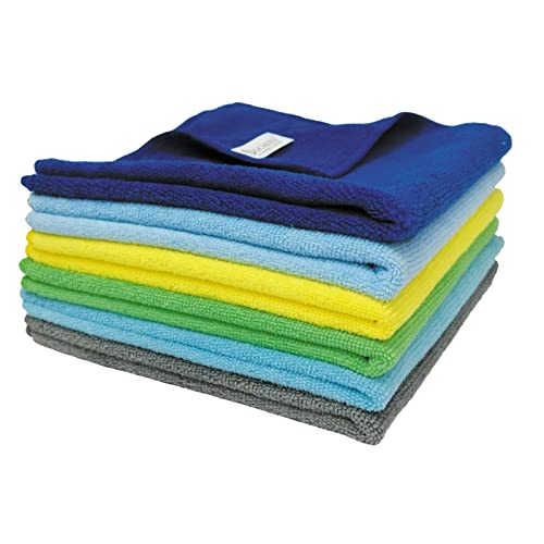SOBBY Microfiber Car Cleaning Cloths Set of 5 for Detailing & Polishing,- 40 cm X 40 cm - Multicolor