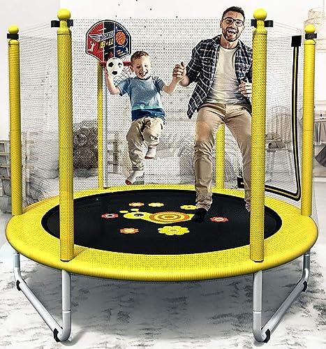 preferente HYYQG Trampolines para Niños Interior, trampolin Cama Elastica Elastica Elastica Interior Exterior Jardín Adultos Niños Hoja de Salto, rojo de Seguridad, Postes de rojo Acolchada, amarillo  nuevo listado