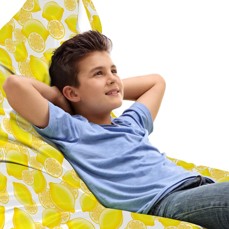 Ambesonne Fruit Lounger Chair Tampa Mall Bag Natural Lemons Falling Theme Popular brand