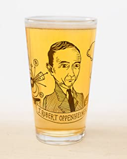 heroes of science pint glass