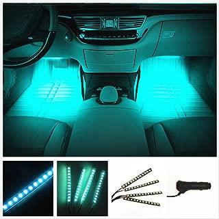 Car LED Strip Light, EJ's SUPER CAR 4pcs 36 LED Car Interior Lights Under Dash Lighting Waterproof Kit,Atmosphere Neon Lights Strip for Car,DC 12V(Ice Blue)…