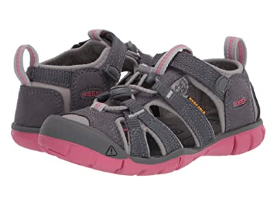 Keen Kids Seacamp II CNX (Toddler/Little Kid) (Steel Grey/Rapture Rose) Girls Shoes