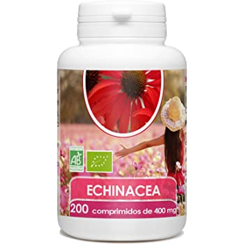 Echinacea Orgánica - Echinacea purpurea - 400mg -200 comprimidos ...