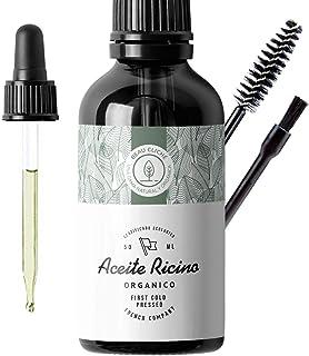 50ml Aceite de ricino orgánico prensado en frío puro - Estimula y fortalece el crecimiento del cabello barba pestañas...