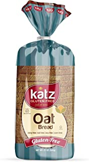 Katz Gluten Free Oat Bread | Dairy, Nut, Soy and Gluten Free | Kosher (1 Pack of 1 Sliced Loaf, 21 Ounce)