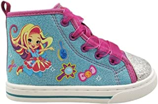 Sunny Day Doll Sneakers for Toddler Girls Shoes High Top Shoe (7) Blue