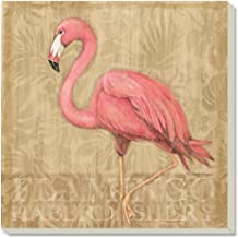 Counter Art Flamingo at Rest Absorbent Coasters, Set of 4