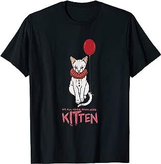 We All Meow Down Here Cat Kitten Clown T-Shirt