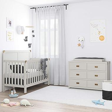 Baby Relax Mile Dresser Topper, Graphite Grey