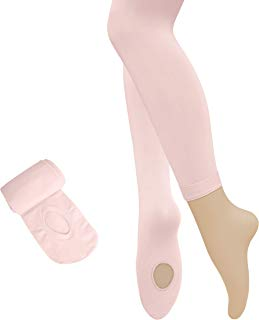 Dancina Dance Ballet Tights for Girls & Women - Ultra-Soft Convertible Transition Tights