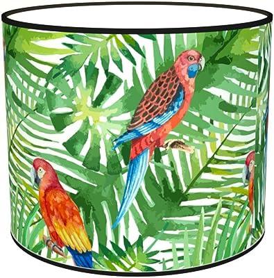 Abat-jours 7111305281186 Imprimé Perot Lampe de Chevet, Tissus/PVC, Multicolore
